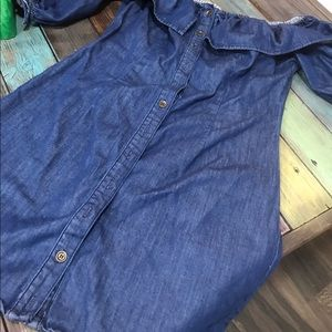 A blue jean dress